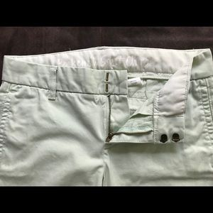 J. Crew Broken In Scout light mint green chino